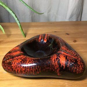 Vintage ceramic pottery ash tray / painters tray
